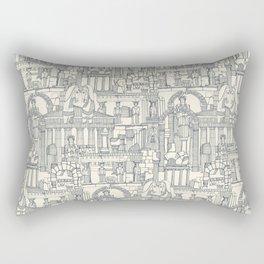 Ancient Greece indigo pearl Rectangular Pillow