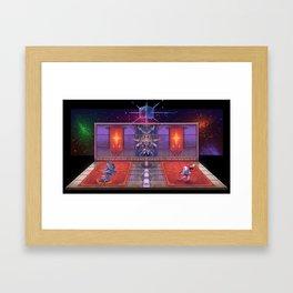 Bomberman 64 final battle diorama Framed Art Print