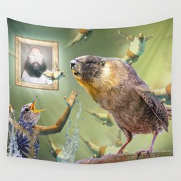 Illegal Bird Meeting Wall Tapestry