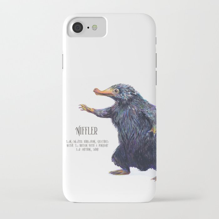 niffler art fantastic beasts iphone case