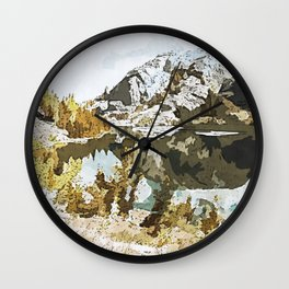 Natural Watercolor Wall Clock