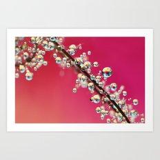 Smoking Pink Drops II Art Print