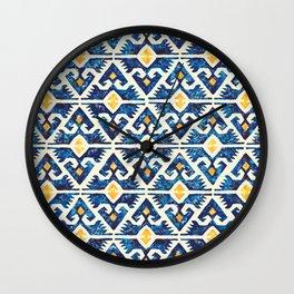 Thunderbird Kilim Watercolor Wall Clock