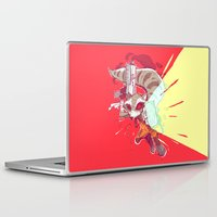 rocket raccoon Laptop & iPad Skins featuring Mad Rocket by Arris Aprillo
