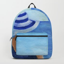 Girl at the sea Backpack