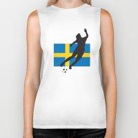sweden Biker Tanks featuring Sweden - WWC by Alrkeaton