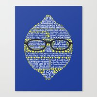 liz lemon Canvas Prints featuring Lemon by Staberella