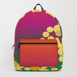 Golden confetti on gradient Backpack