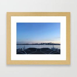 Sunset in North Vancouver Framed Art Print