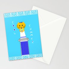 Greek Cat Eating Ice Cream Stationery Cards