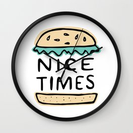 Nice Times Cheeseburger Wall Clock