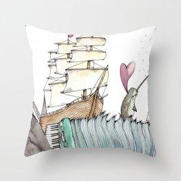 Accordion Sea Throw Pillow