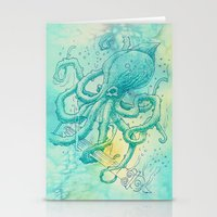 kraken Stationery Cards featuring Kraken by pakowacz