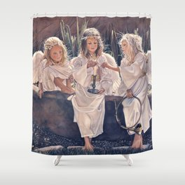 Reproduction Candle in the wind Steve Hanks Shower Curtain