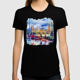 London Rain watercolor T-shirt