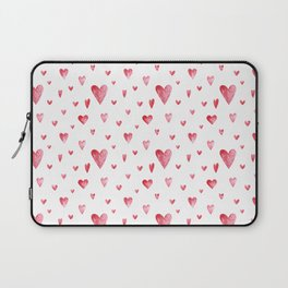 Watercolor print with hearts Laptop Sleeve