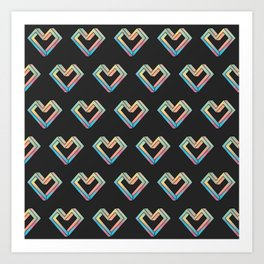 le coeur impossible (pattern) Art Print