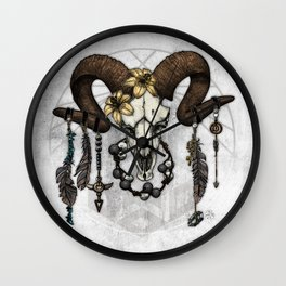 Bestial Crowns: The Ram Wall Clock