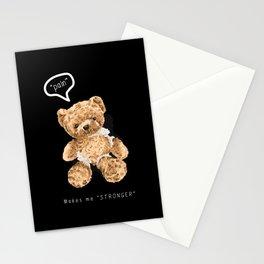 Cute broken bear toy Stationery Cards