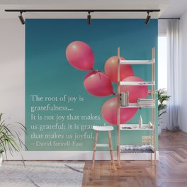 Gratitude - the root of joy Wall Mural