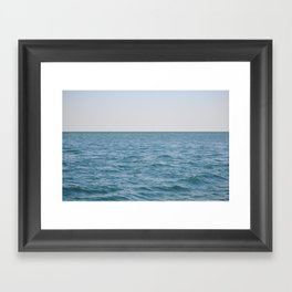 Slow down and breathe Framed Art Print