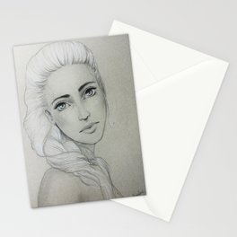 Young Woman Stationery Cards
