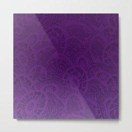 Purple Zentangle Metal Print