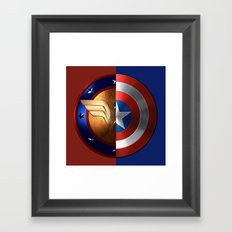 Wonder Woman/Captain America Framed Art Print