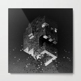 Drawlloween 2015: 8-Bit Zombie Metal Print