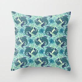 Fish Pattern Throw Pillow