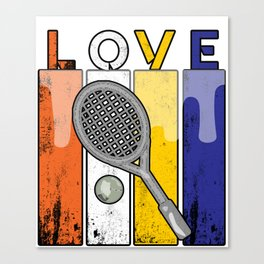 Tennis Love Sport Ball Game Ball Racket Gift  Canvas Print