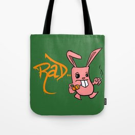 Rad Bunny Tote Bag