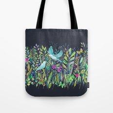 Little Garden Birds in Watercolor Tote Bag