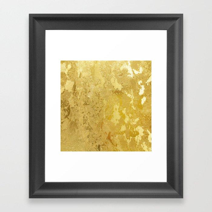golden vintage Gerahmter Kunstdruck