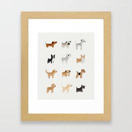 Lots of Cute Doggos Gerahmter Kunstdruck