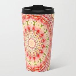 Mandala Tequila Sunrise -- Kaleidoscope of Vibrant Sunny Colors Travel Mug