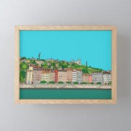 Lyon, France Framed Mini Art Print