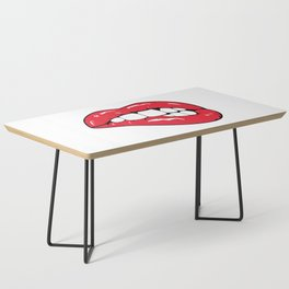 Red Lips Pop art Coffee Table