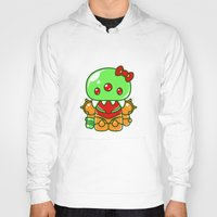 metroid Hoodies featuring Hello Metroid by Marshu