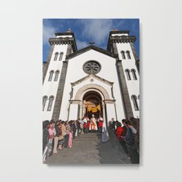 Church in Furnas Metal Print
