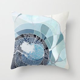 Circuit Cell Throw Pillow