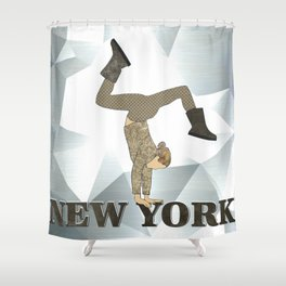Gymnastics New York Shower Curtain