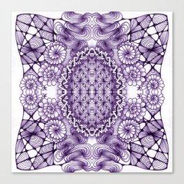 Grape Wash Zentangle Tile Doodle Design Canvas Print