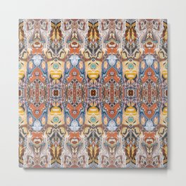 Abstract Tribal Pattern Metal Print