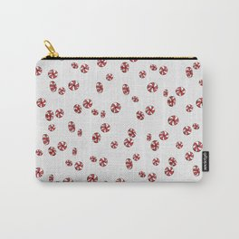 Peppermint Candy in White Carry-All Pouch