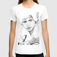 bob dylan T-shirts featuring BOB  DYLAN by ART FEEDS HUNGER