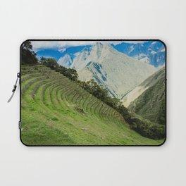 Incan Terraces | Nature Landscape Photography of Incan City Terraces in Peru Mountains Laptop Sleeve