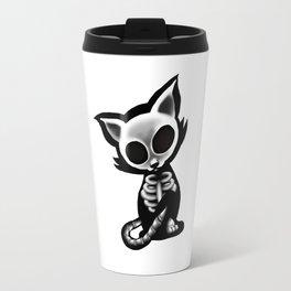 Skeleton cat Travel Mug