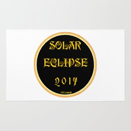 Solar Eclipse Flare Rug