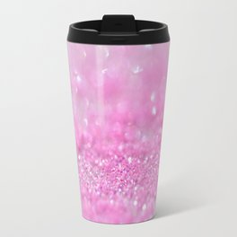 Sparkling Baby Girl Pink Glitter Effect Travel Mug